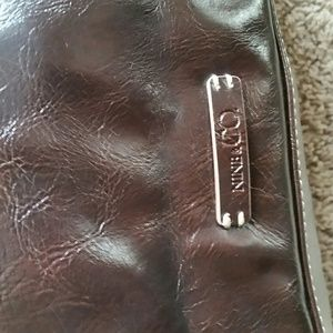Authentic Brown Leather Nine & CO Tote